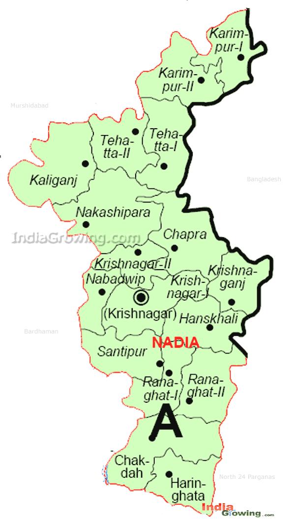 Nadia District Blocks Map