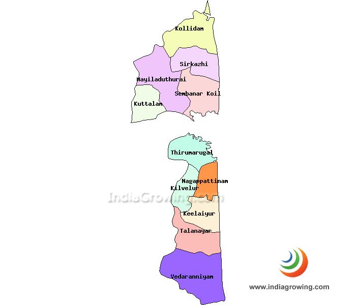 Nagapattinam District Taluks Map