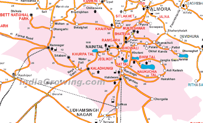 Nainital District Map