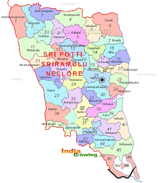 Nellore District Map