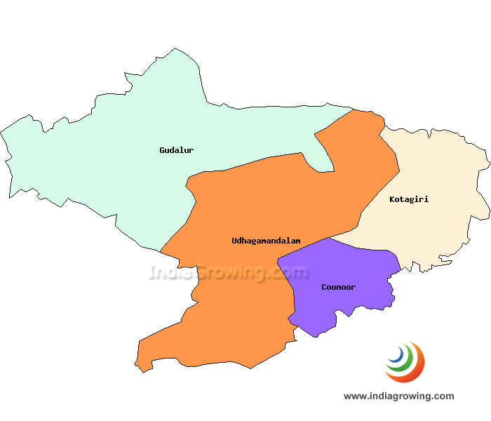 Nilgiris District Taluks Map