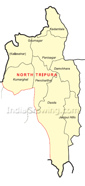 North Tripura District Map