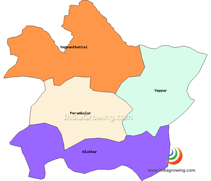 Perambalur District Taluks Map
