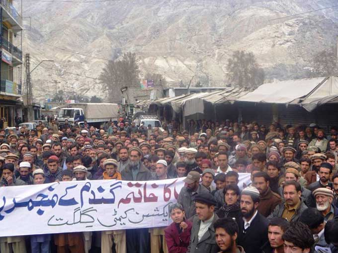 protests in gilgit baltistan