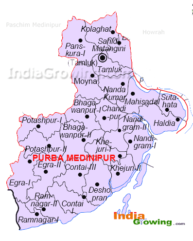 Purba Medinipur District Blocks Map
