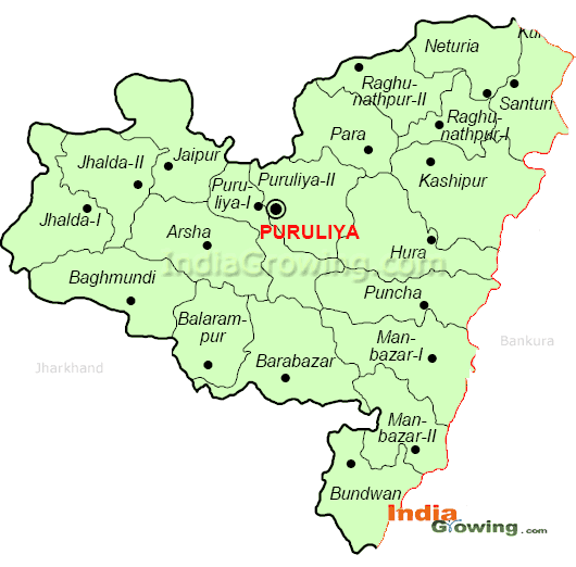 Purulia District Blocks Map