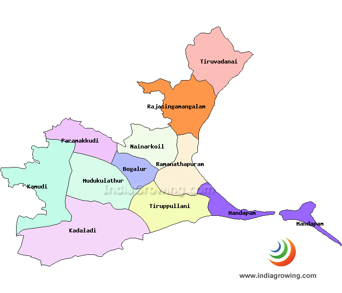 Ramanathapuram District Map