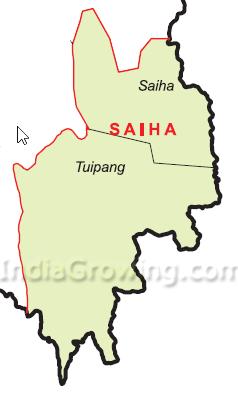 Saiha District Blocks Map