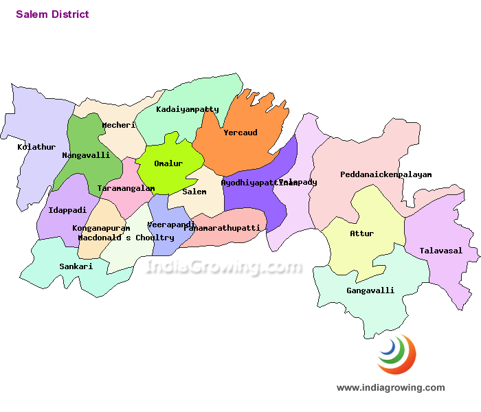 Salem District Map