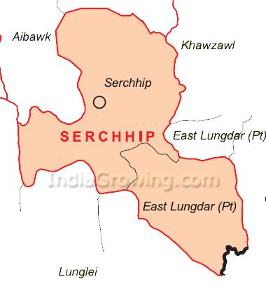 Serchhip District Blocks Map