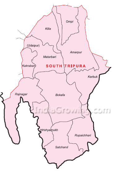 South Tripura District Map