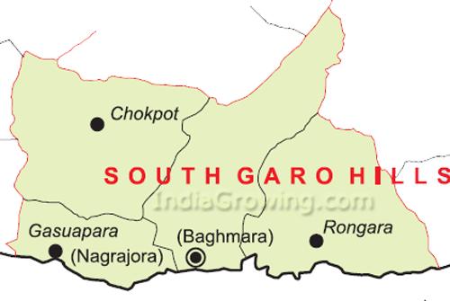 South Garo Hills District Blocks Map