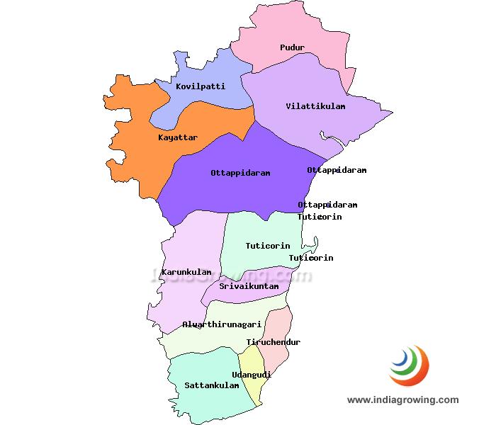 Thoothukudi District Taluks Map
