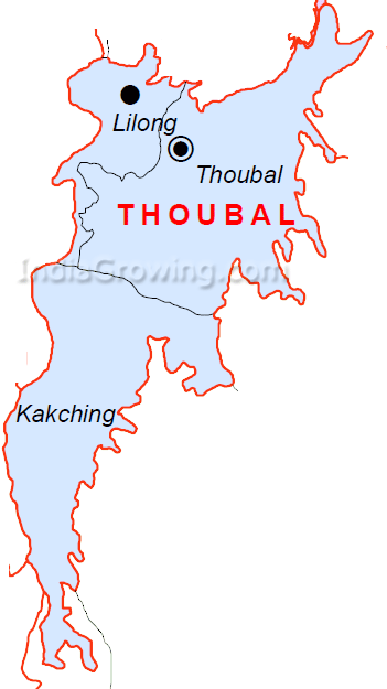 Thoubal District Subdivisions Map