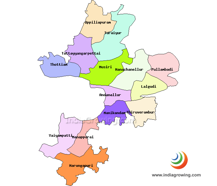 Tiruchirappalli District Map