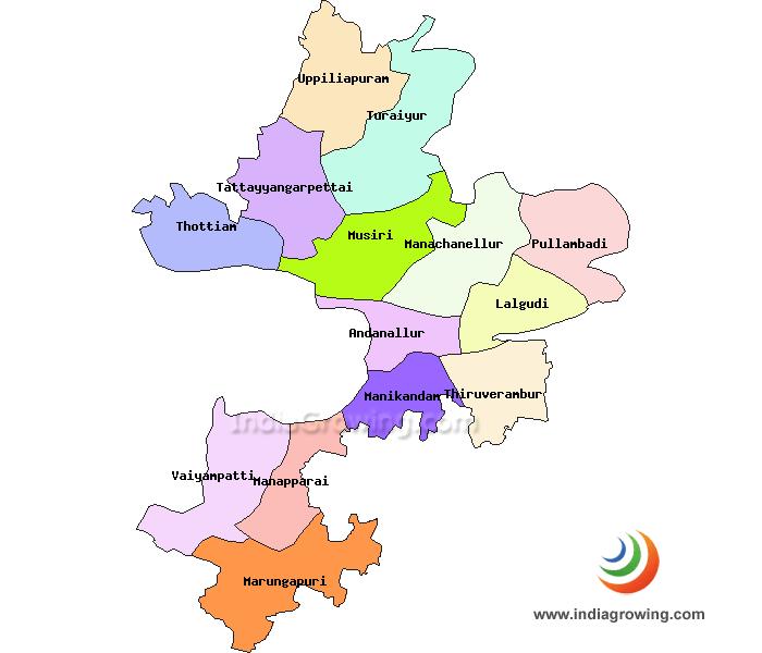 Tiruchirappalli District Taluks Map