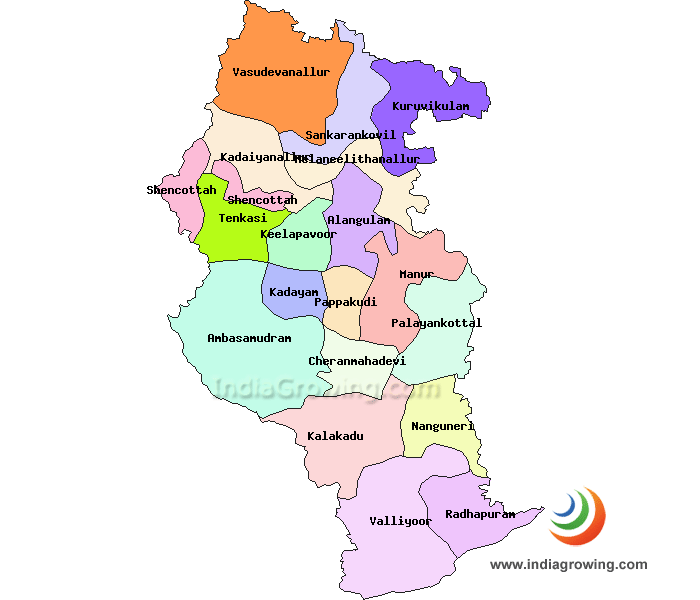 Tirunelveli District Map