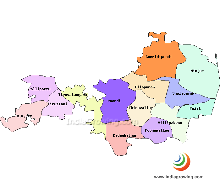 Tiruvallur District Map
