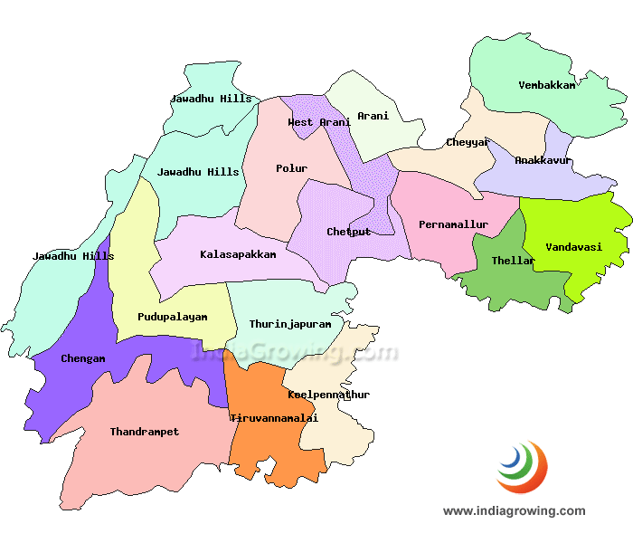 Tiruvannamalai District Map