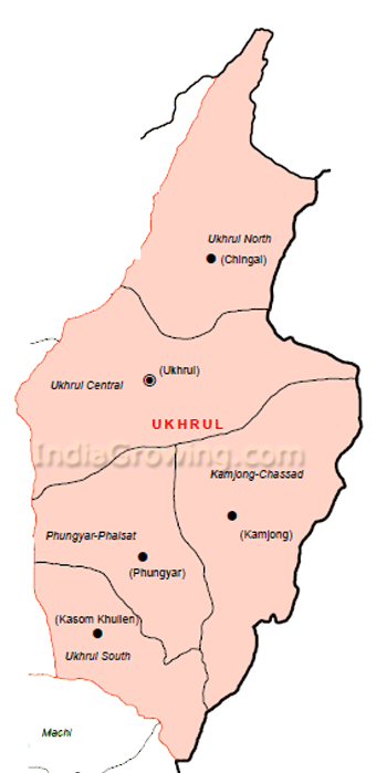 Ukhrul District Subdivisions Map