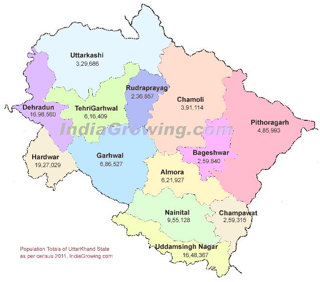 uttarakhand map