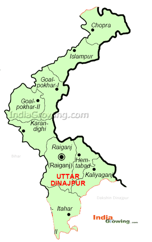 Uttar Dinajpur District Map