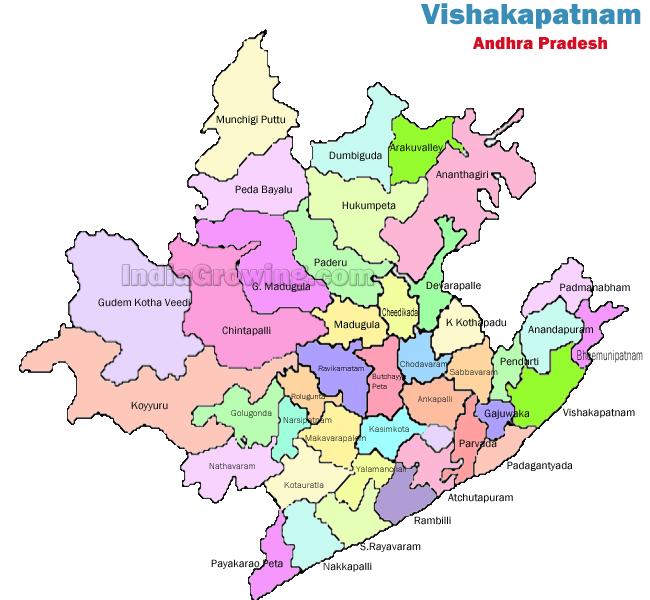 Visakhapatnam District Map