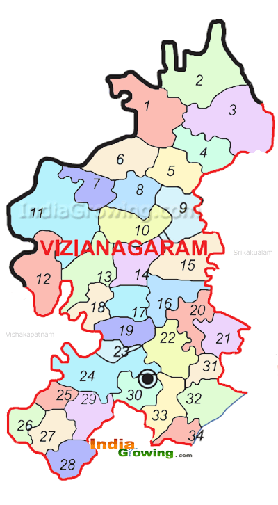 Vizianagaram District Map