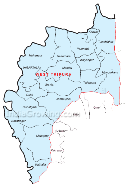 West Tripura District Map