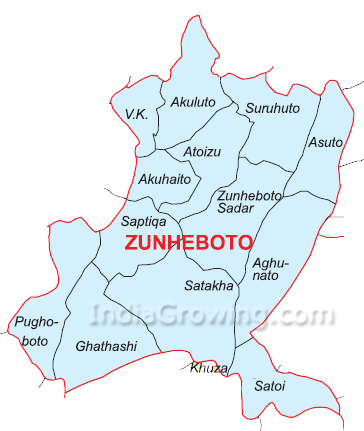 Zunheboto District Subdivisions Map