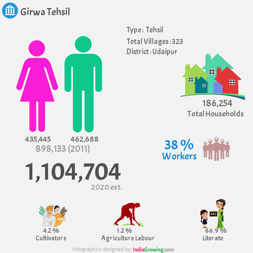 Girwa Demographics, Udaipur district