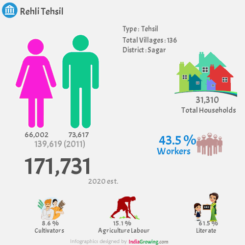 Rehli Demographics, Sagar district