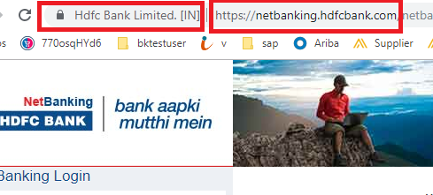hdfc netbanking saftety measures
