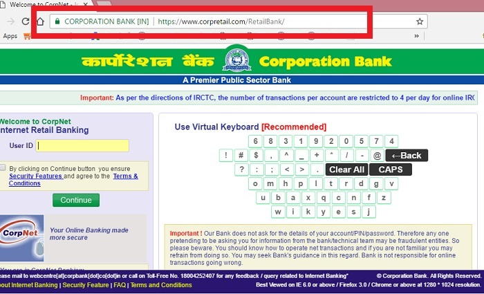 net banking corporation bank