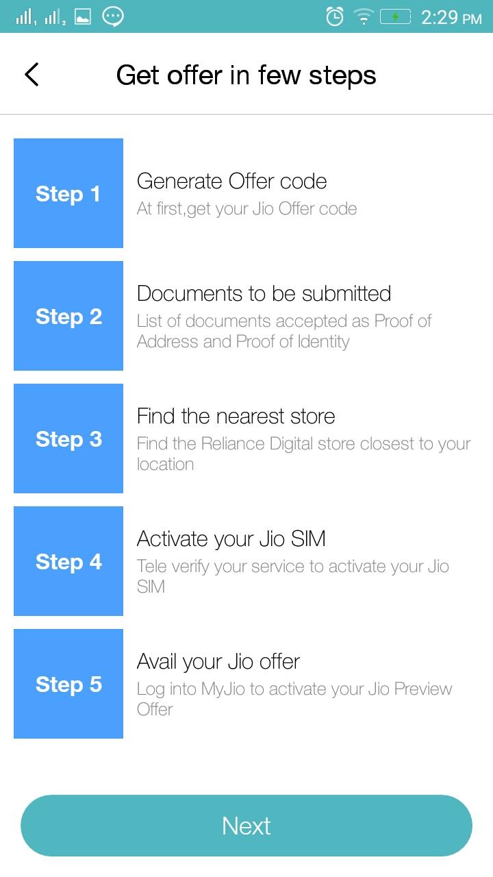 get your offer steps